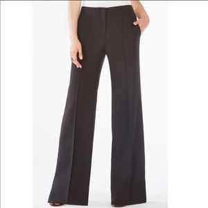 BCBGMaxaria Daniel black wide leg trousers